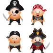 Stock Vector: Pirates
