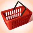 Shopping Basket — Stockvectorbeeld