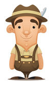 Lederhosen Man — Stock Vector