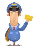 Postal Worker — Stock Vector