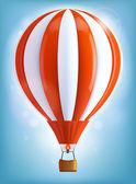 Hot air balloon — Cтоковый вектор