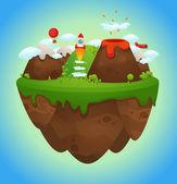 Floating island — Stock Vector