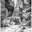 Stock Photo: Near Sorrento, vintage engraving.