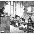 Salon of 1874. paint. - A drawing lessons at school Cochin, by A — Stock Photo #9081421