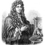 Huygens. - Drawing of Edward Garnier. of Edelinck after, vintage — Stock Photo