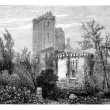 The Castle of Lavardin. - Drawing Tirpenne, vintage engraving. — Stock Photo