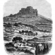 The Rock of Caylus, near Saint-Affrique (Aveyron), vintage engra — Stock Photo #9082208
