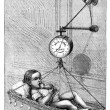 Baby Scale by Dr. Bouchut, vintage engraving. — Stock Photo