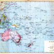 The colourful Map of Oceania — Stock Photo
