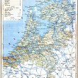 The map of Netherlands — Stock Photo
