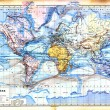The old map of planisphere — Stock Photo