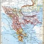 The map of Balkan Peninsula (Turkey, Greece, Serbia, Romania and — Stock Photo