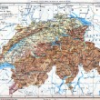 The map of Switzerland — Stockfoto
