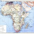The planispheric map of Africa — Stock Photo