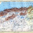 The map of Algeria and Tunisia — Stock Photo
