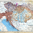 The map of Austria-Hungary — Stock Photo