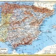 The map of Spain and Portugal — Stock Photo