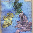 The map of British Isles — Stock Photo