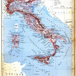 The map of Italy — Stock Photo
