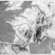 Fig. 7. Map of France in relief, after Miss Kleinhanz. Fig. 8. E — Stock Photo