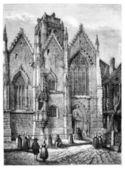 聖母教会、ガラス (イル = エ ヴィレーヌ)。-catenac を描画 — ストック写真