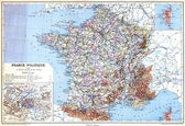 The Map- France Politique — Stock Photo