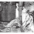 Caligula and Claude, painting by Alma-Tadema (see p 367). - Draw — Stock Vector