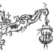 Wrought iron signs, Temesvar. Drawing Garnier, after album — Stok Vektör #9087924