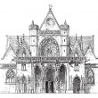 Porch, SAINT-Germain l'Auxerrois, Paris, vintage engraving. — Stock Vector