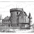 Chateau of Rambouillet, vintage engraving. — Stock Vector