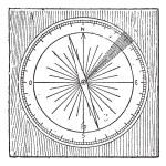 Rhumb, vintage engraving. — Stock Vector