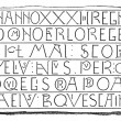 Royalty-Free Stock Vector Image: Inscriptions, Writing Carlovingian, vintage engraving.