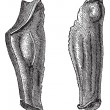 Постер, плакат: Armor leg of tin or Flexible greaves vintage engraving
