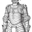 Armor of lion also known as Louis XII vintage engraving — Imagen vectorial