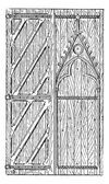 The door of Sainte-Chapelle vintage engraving — Stock Vector