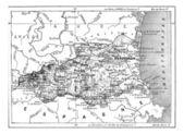 Кафедра Восточных Пиренеев, старинные гравюры. — Cтоковый вектор