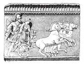 Il ritorno di helen in incisione d'epoca quadriga — Vettoriale Stock