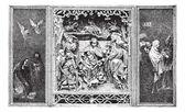 Altarpiece, vintage engraving. — Stock Vector