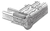 Rivet, vintage engraving. — Stock Vector