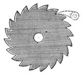 Ratchet wheel, vintage engraving. — Stock Vector