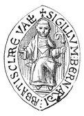 Seal of Saint Bernard, vintage engraving. — Stock Vector