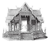Hall of Siam, vintage engraving. — Stock Vector