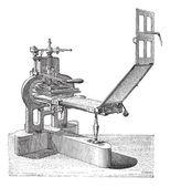 Hand press vintage engraving — Stock Vector