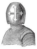 Hughes casque vicomte de chalons vintage gravure — Vecteur