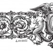 Drawing of first bracelet made by Francois-Desire Froment vi — Stok Vektör #9102447