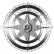 Mariner?s compass vintage engraving — Stock Vector