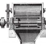 Malt beer making machine vintage engraving — Stock Vector #9103237