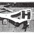 Door lock inside mechanism vintage engraving — Stock Vector #9103671