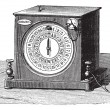 Receiver's dial telegraph, vintage engraving. — Stock Vector