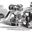 Fig. 8. Morse manipulator, vintage engraving. — Stock Vector #9104300